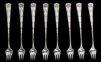8 Antique 19th Century Sterling Silver Wood /& Hughes CocktailSeafood Forks