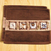 Hand Towels For Bathroom Decor Ideas Moose Lodge Guest Bear Outhouse Friends