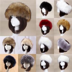7bdb2125 Women Russian Thick Fluffy Cap Fake FAUX Fur Headband Hat Winter Ear ...