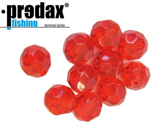 Predax Glasperlen geschliffen 10 Perlen Angelperlen für Drop Shot Systeme