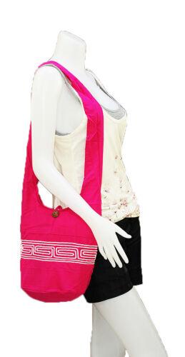 SALE Thai Hippie Hobo Sling Shoulder Crossbody Bag Purse Ethnic Embroider Boho