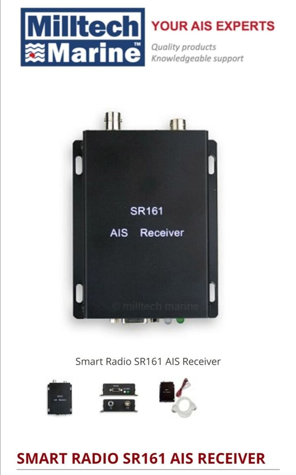 Like new AIS receiver SR161 with USB to Serial...
