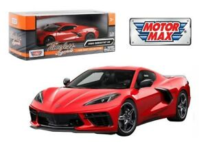 MOTORMAX-79360-2020-CHEVROLET-CORVETTE-C8-STINGRAY-1-24-DIECAST-MODEL-CAR-RED
