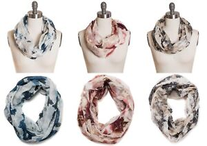 Collection-XIIX-Abstract-Flower-Infinity-Loop-Around-Scarf-with-Shine-26-Tags