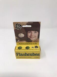 Vintage GE Flashcubes - Set Of 3 Cubes New in Original Box!  Sealed NOS NIB