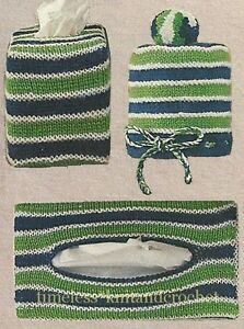 Vintage Knitting Pattern For Tissue Box Covers Amp Toilet
