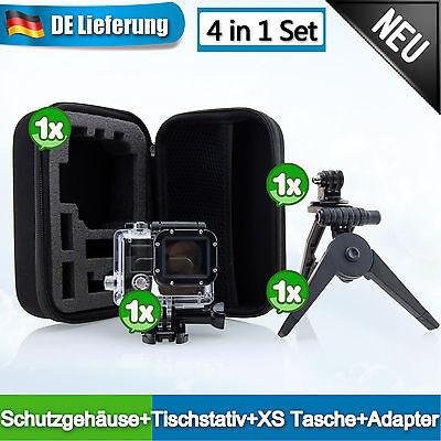 XS Tasche + Schutzgehäuse + Tischstativ Zubehör Adapter Set für Gopro HD Hero 3
