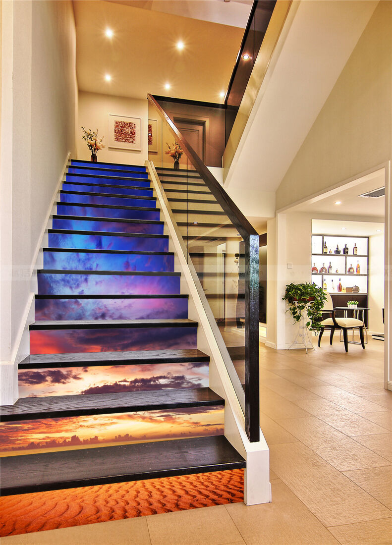 3D Sky earth 255 Stair Risers Decoration Photo Mural Vinyl Decal Wallpaper UK