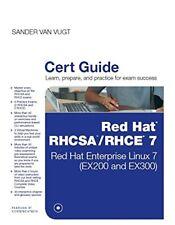 Certification Guide: Red Hat RHCSA/RHCE 7 Cert Guide by Sander van Vugt (2015, CD-ROM / Hardcover)