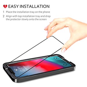 Details about iPhone XS Max Full Cover Premium Screen Protector Tempered  Glass Tray Install