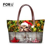 Christmas Women's Tote Handbags Purse Shoulder Messenger Bags Beach Satchel Girl