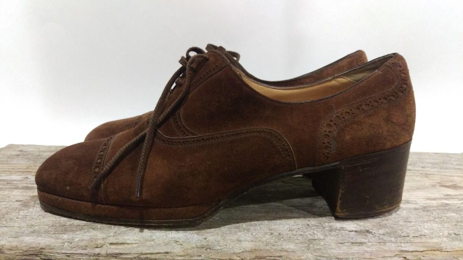 prezzo all'ingrosso e qualità affidabile TANINO CRISCI scarpe Vontage Marrone Oxford Italian Suede donna Dimensione Dimensione Dimensione US 7 D  negozio online