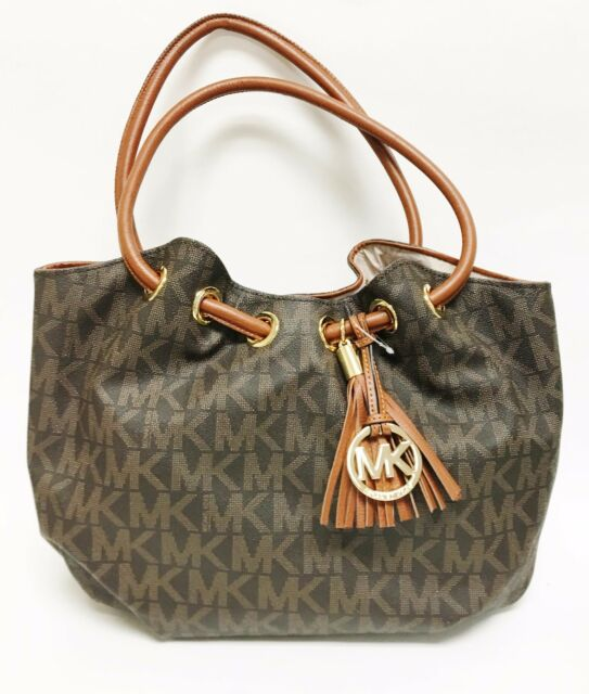 e6f40c1cf5480 Michael Kors Signature Brown Ring Tote 35t3grtt6b Grommet Shoulder ...