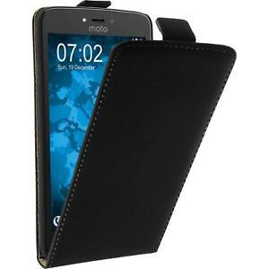 big sale 60787 f3b4c Artificial Leather Case for Lenovo Moto C - Flip-Case black + ...