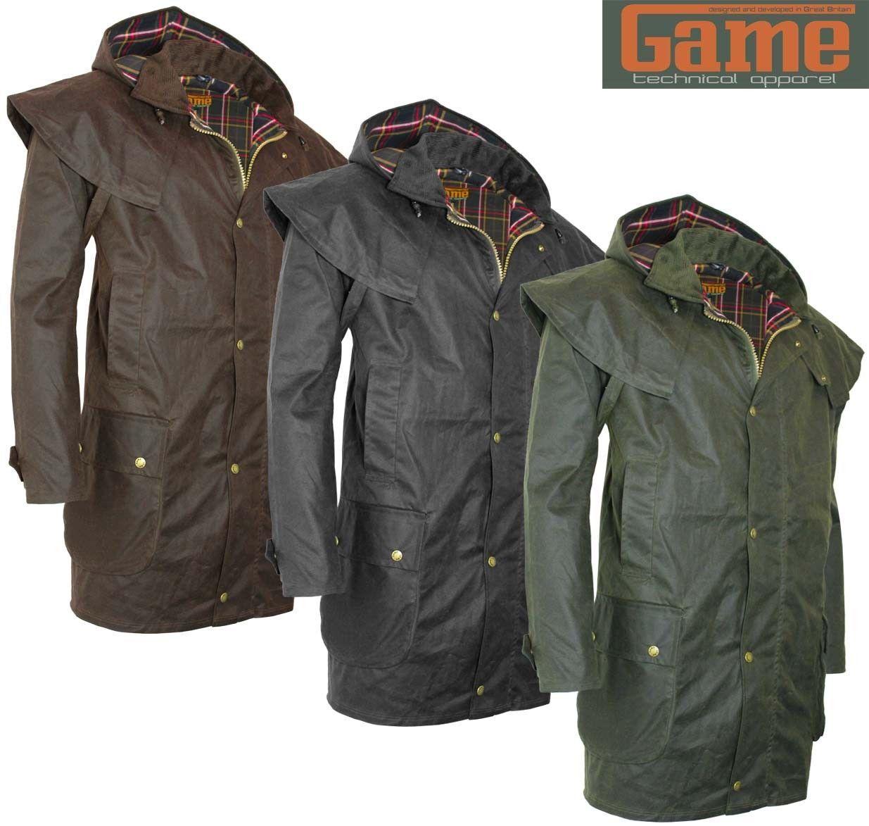 Game Kensington  Herren Wax Short Cape Coat