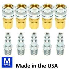 10pc Heavy Duty Quick Coupler Set Air Hose Connector Fittings 1/4 NPT Tools Plug