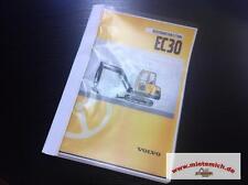 Volvo Minibagger Bedienungsanleitung EC30 Typ 282 Betriebsanleitung Bagger EC 30