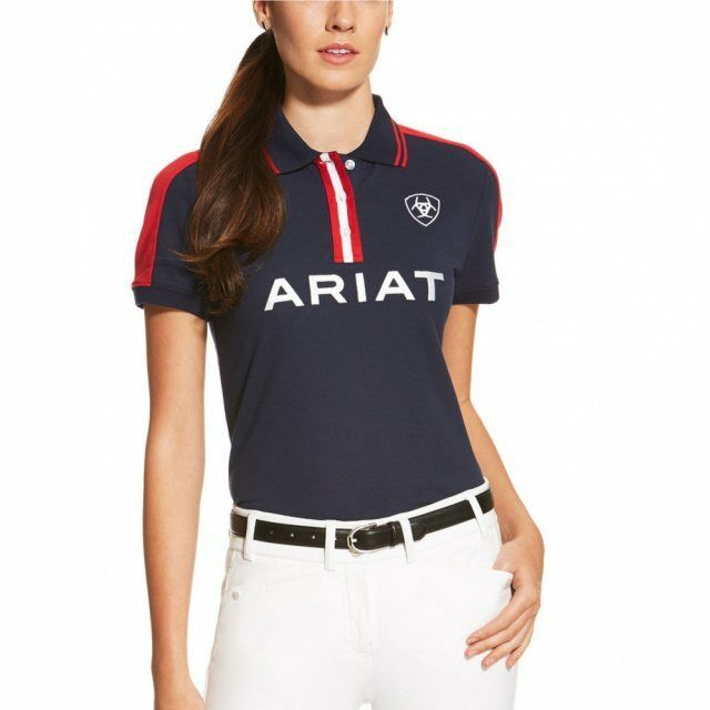 Ariat New Team Polo Navy and Red Various Sizes Available