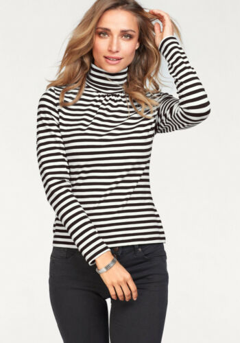 Noir-wollweiß Aniston Col Roule Shirt SOLDES/%/%/% NEUF!!