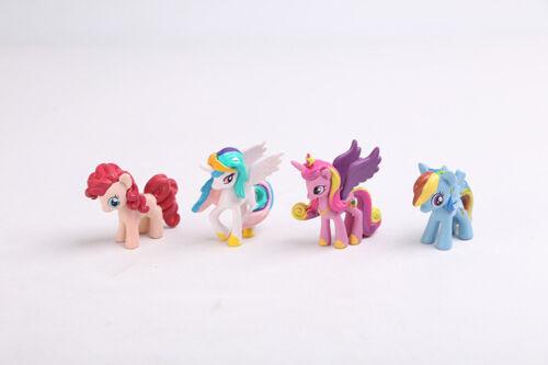 My Little Pony Unicorn Mini Figures cake toppers PVC Toys Rainbow Colour 4//12pcs