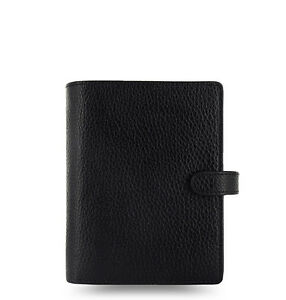 Filofax Pocket Finsbury Leather Organizer/Planner Black - 025360 - 2018 Diary
