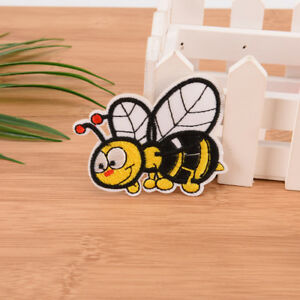 bee-embroidered-sew-iron-on-patches-set-badge-bag-fabric-applique-craft-DIY-ATAU