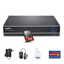 SANNCE 1080n 4ch ONVIF CCTV DVR for Home Security Camera System 1tb App Remote