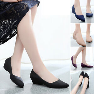 US-6-5-9-Womens-Summer-With-Low-cut-Uppers-Pointed-Toe-Casual-Slip-On-Work-Shoes