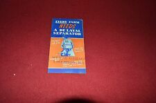 De Laval Cream Separator Pocket Dealer's Brochure DCPA5