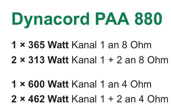 PA FORSTÆRKER, DYNACORD PAA 880