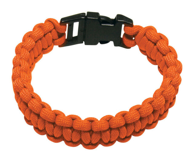 Secureline Npcb550tl 550 Nylon Paracord Survival Bracelet Large Orange