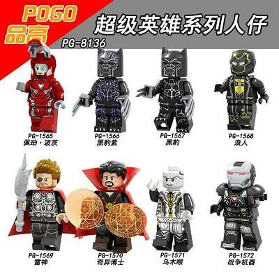 Bausteine Spielzeug Super Hero Black Panther Erik Killmonger Shuri Figur Kind 8P