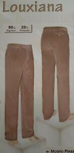 Pantalon Pana Hombre Talla 50 Color Beige Clasico Tallas Grandes Ebay