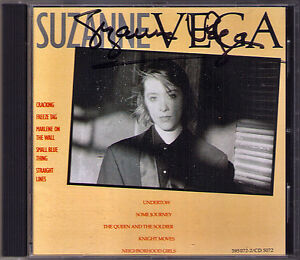 Suzanne-VEGA-SIGNED-DEBUT-CD-cracking-Freeze-Day-Marlene-On-The-Wall-Undertow