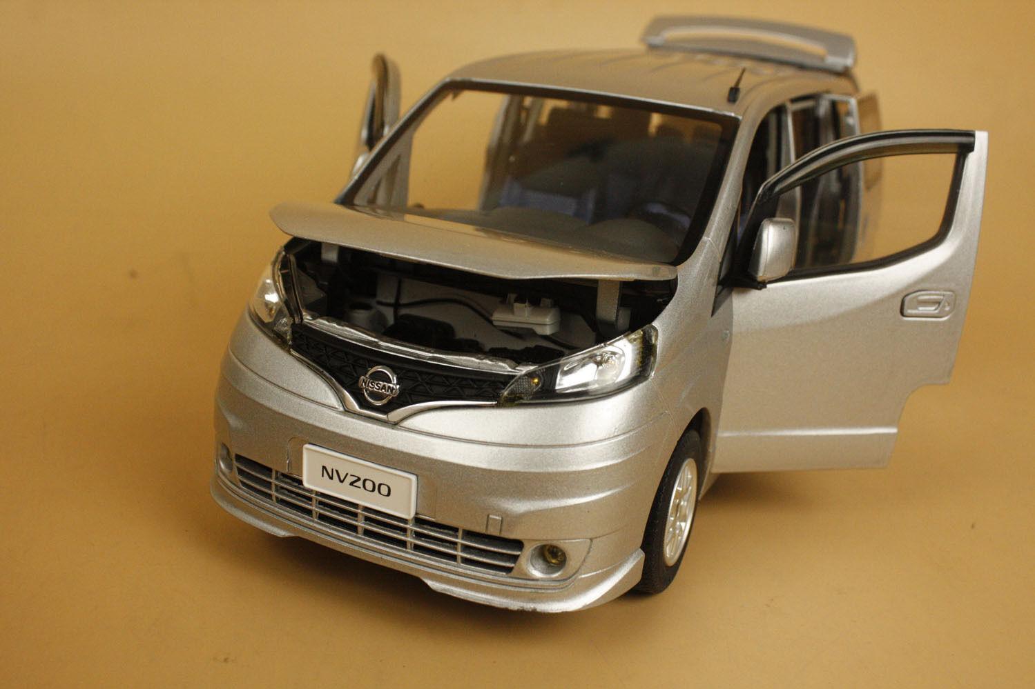 1 18 china nissan nv200 vanet tte model silver color ebay. Black Bedroom Furniture Sets. Home Design Ideas