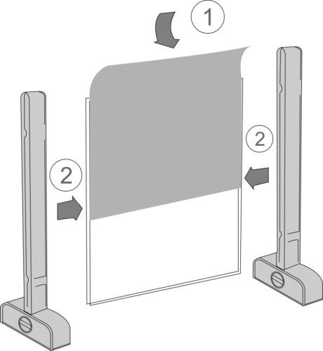 Edles Tisch-Namensschild  Display Tischaufsteller glasklar Werbeschild Acryl