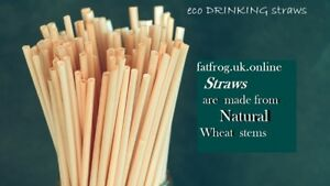 Natural Wheat Stem Drinking Straws 100/% Biodegradable Eco-Friendly Compostable