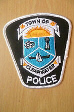 Patches: TOWN OF CLEARWATER CANADA POLICE PATCH (NEW* apx.10.5x10)