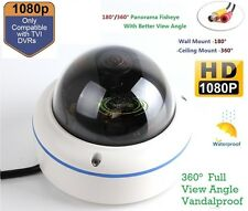 Full View 180/360 Degree Fisheye 2.0MP Panoramic HDTVI Camera Outdoor 1080P Lens