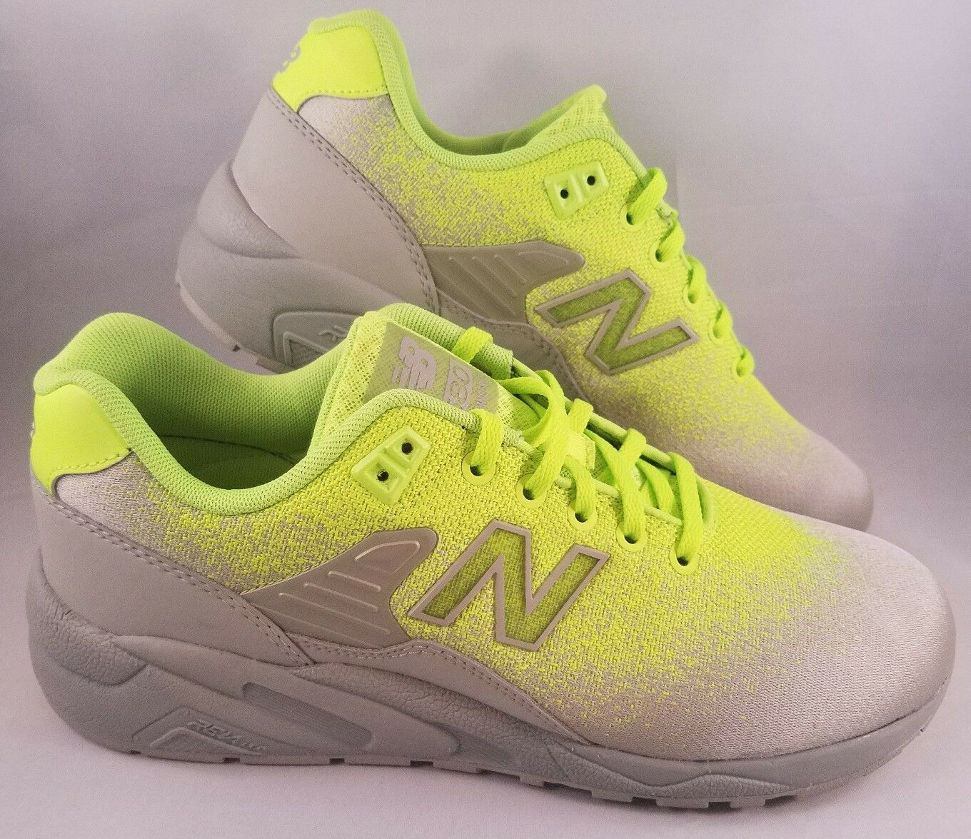 New Balance 580 Re-Engineered Running shoes Mens Size 9 MRT580JE Lime Green Grey