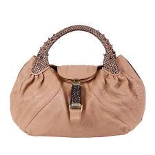39529 auth FENDI nude pink leather SPY Shoulder Bag