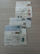 STORIA POSTALE 1954 REPUBBLICA LOTTO 10 BUSTE CON AFFR. DIV D 07620