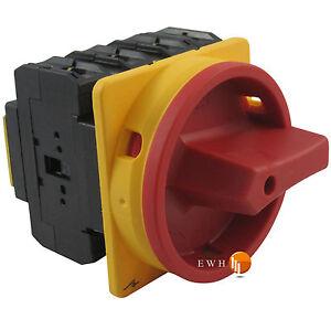 Hauptschalter-Reparaturschalter-Lasttrennschalter-Fronteinbau-Drehschalter-80A