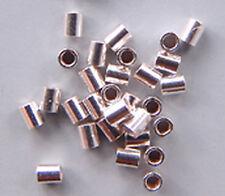 Crimps 2mm Tubular Beads Sterling Silver 43046 (50) Soft Flex Brand Softflex