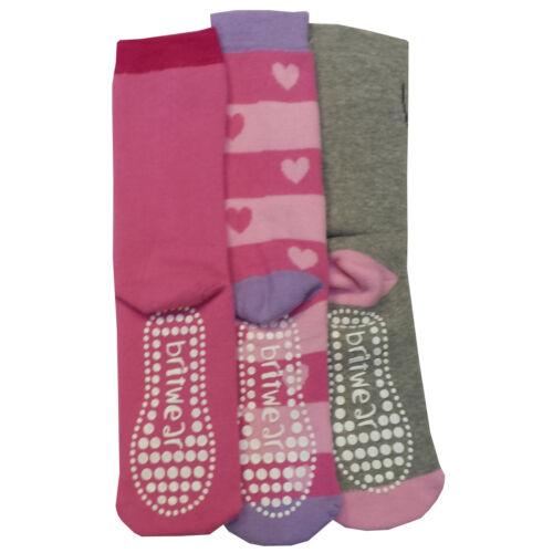 6 x Girl Kid Bambini Gripper Thermal Caldo motif design Calzini Anti Non Slip Grip