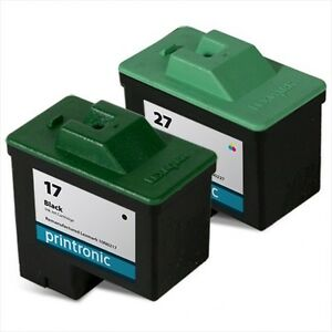 2pk-Lexmark-17-amp-27-COMBO-INK-CARTRIDGE-FOR-X75