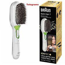 Braun Satin Hair 7 Brush Instant Shine IonTec No Frizz Smooth Hair - White-New