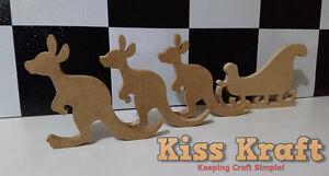 Christmas-Kangaroo-and-Sleigh-Set-Freestanding-Wooden-MDF-Xmas-decoration
