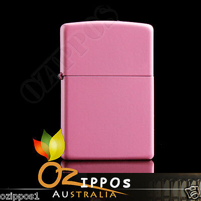 Zippo Lighter Pink Matte Finish --- Free Shipping in Australia - Brand new