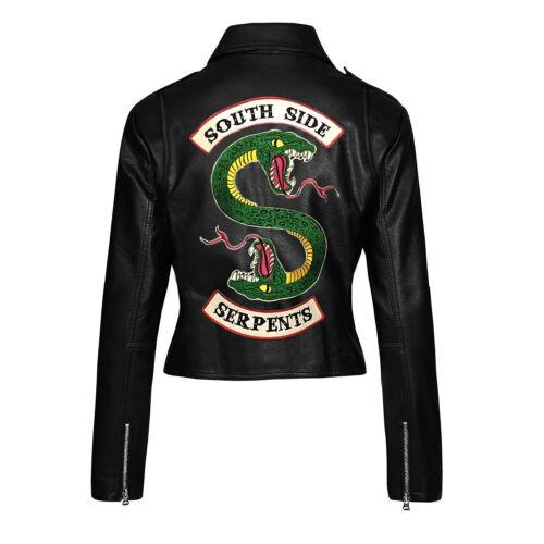 Riverdale Serpents Faux Biker Jones Women's Leather Southside Jacket Jughead rUwqArT
